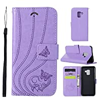 Phoebe, Samsung Galaxy A8 2018 Case Wallet Leather, Samsung Galaxy A8 2018 Case with Card Holder and Kickstand, Samsung Galaxy A8 2018 Wallet Case with PU, PU Case Cover for Samsung Galaxy A8 2018