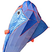 SizeT 3d Kite HugeフレームレスソフトParafoil GiantブルードルフィンBreezeビーチ凧