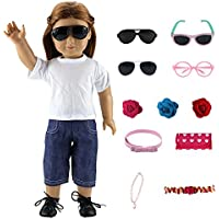 Barwa Gift Lot Mix Styles 5 Random Accessories Set for 18 Inch American Girl Doll Xmas Gift