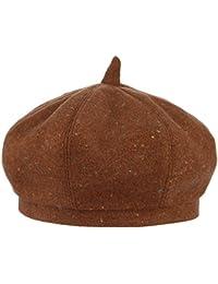 GEMVIE ベレー帽 レディース かわわい ベーシック 帽子 フェルト ハット シンプル ガールズ キャップ 小顔 女優帽 秋冬 保温 ブラウン