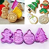 CHOUREN 1set Christmas Cookie Biscuit Cutter Mould Fondant Cake Mold