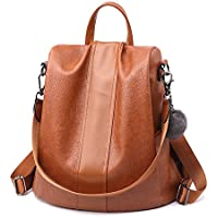 Women Backpack PU leather Purse Waterproof Anti-theft Rucksack Lightweight Shoulder Bag