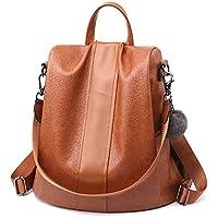 Women Backpack PU leather Purse Waterproof Anti-theft Rucksack Lightweight School Shoulder Bag