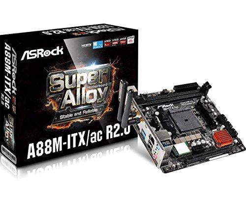 ASRock AMD A88Xチップ搭載 Mini-ITXマザーボード A88M-ITX/ac R2.0
