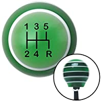 American Shifter 126886 Green Stripe Shift Knob with M16 x 1.5 Insert (Black Shift Pattern 15n) [並行輸入品]