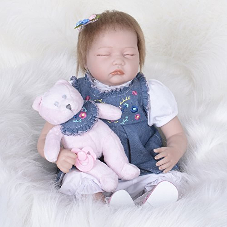 PKJOkmjko シミュレーション人形全シリカゲル赤ちゃん幼児教育迫真の女の子の人形迫真再生人形おもちゃ人形姫児童玩具子どもの誕生日プレゼントは身長約55センチ