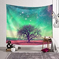 ギャラクシー宇宙星雲タペストリー、壁に取り付けられた壁掛けポリエステル寝室のリビングルームの装飾 SHWSM (色 : E, サイズ さいず : 150x130)