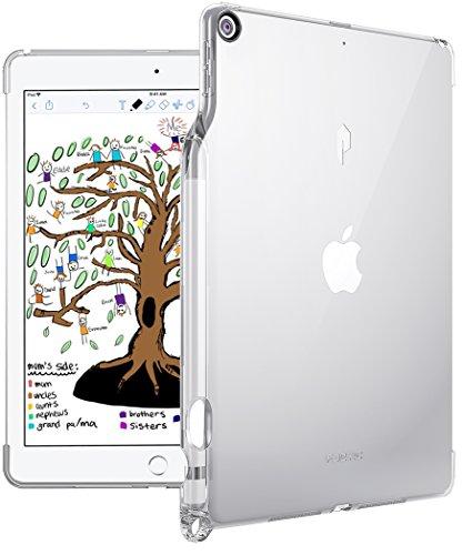 iPad 9.7 2018 ケース Poetic -[Lumos Series] [ウルトラスリム] [TPU製 ケース] Smart Keyboard 対応 Apple Pencil 収納スロット付き,クリスタルクリア