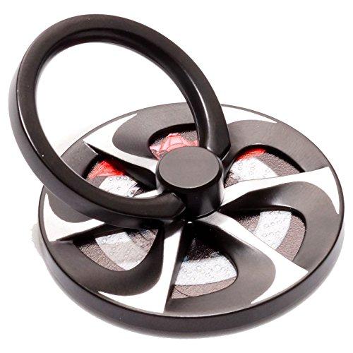 タイヤ ホイール型 スマホ リング 落下防止 ホールドリング スタンド 軽量 指輪型 スマホリング ホイール 車 ハンド スピナー (ディッシュ) PR-SMRING03-6
