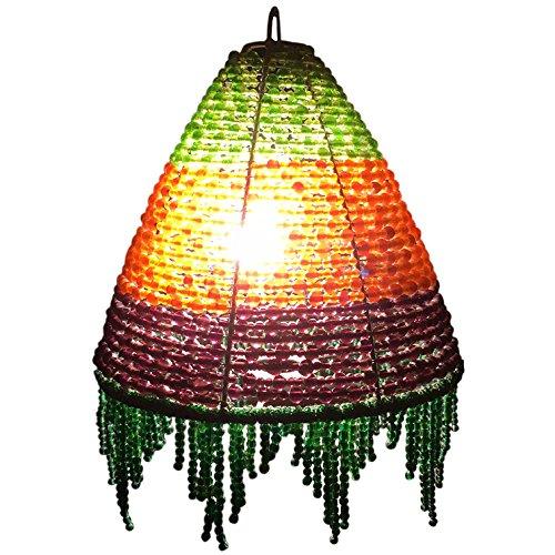 インド 手作り硝子ビーズ エスニック ランプシェード 照明 ライト カバー インテリア interior 電球傘