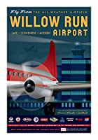 Willow実行Airportポスター14x 20
