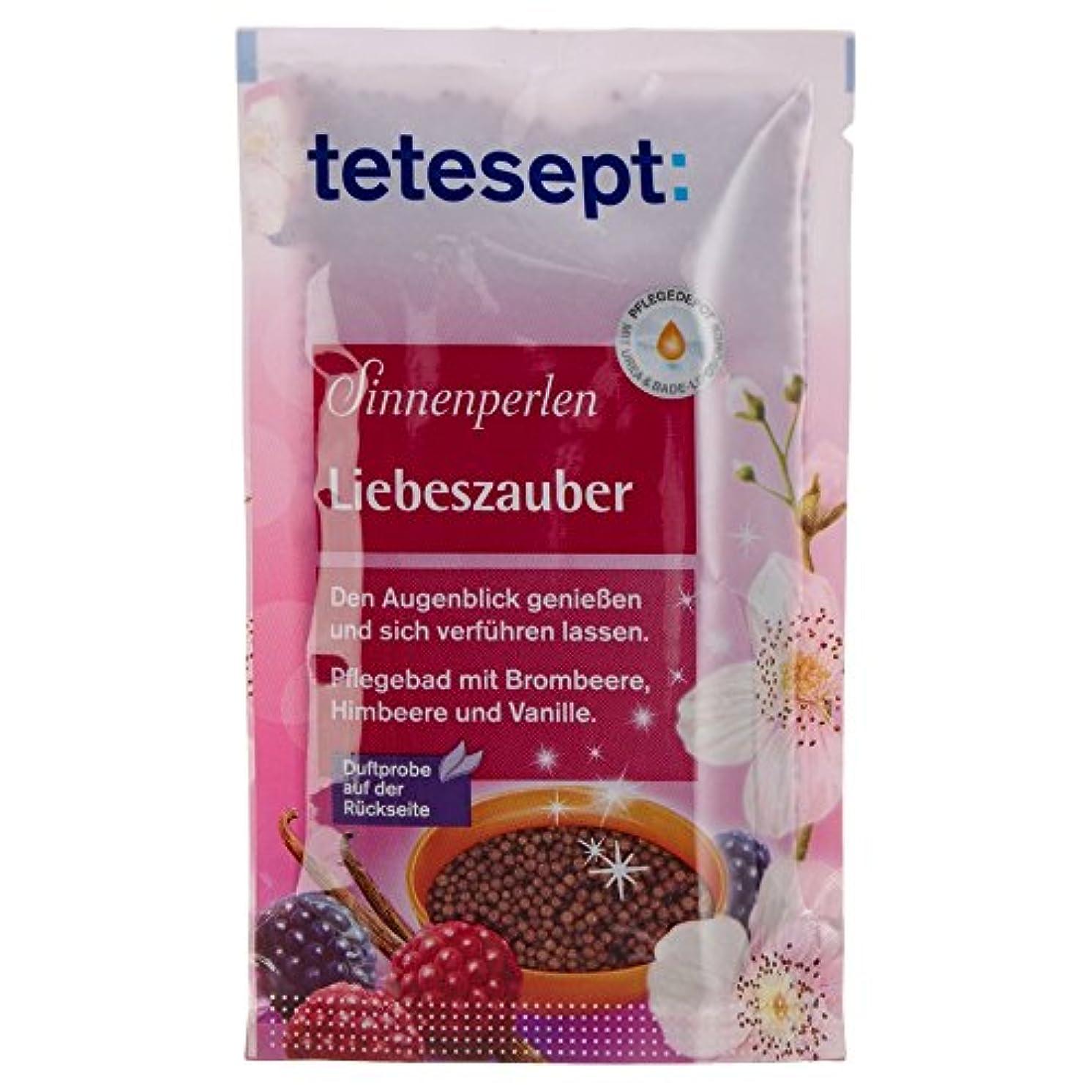 分散崩壊清めるTetesept Sinnenperlen Liebeszauber Brombeere, Himbeere & Vanille 80 g