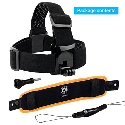 2イン1 フローティングリストストラップ & ヘッドストラップフローター ―  GoPro Hero 4, Session, Black, Silver, Hero+ LCD, 3+, 3, 2, 1用 ― カメラが沈むことを防ぐ ― 手首に巻きつける、またはヘッドストラップ(込み)に取り付ける