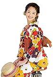 [ 京都きもの町 ] Sサイズ 浴衣単品 レトロカラー 椿 オレンジ レッド パープル レトロ 椿
