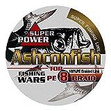 Ashconfish ライン 釣り糸 X8 150m 単色 マルチカラー 8本編み【0.4号~10号 各号選択可】8編 ホワイト