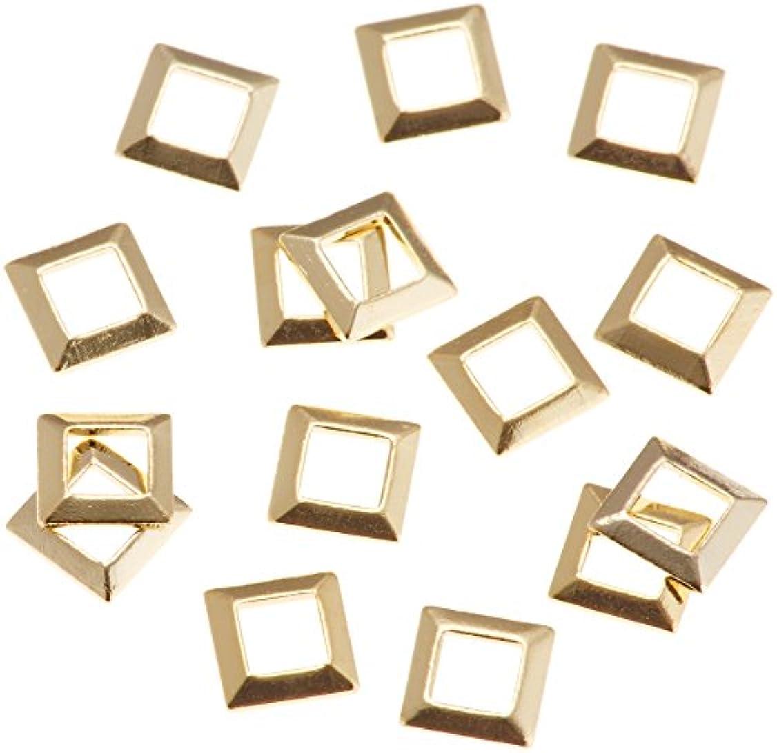 逆さまに一般的に容量リトルプリティー ネイルアートパーツ スクエア スカシ ゴールド 50個