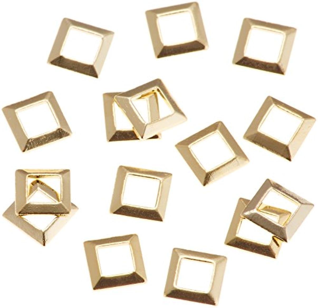 はしご物理木製リトルプリティー ネイルアートパーツ スクエア スカシ ゴールド 50個