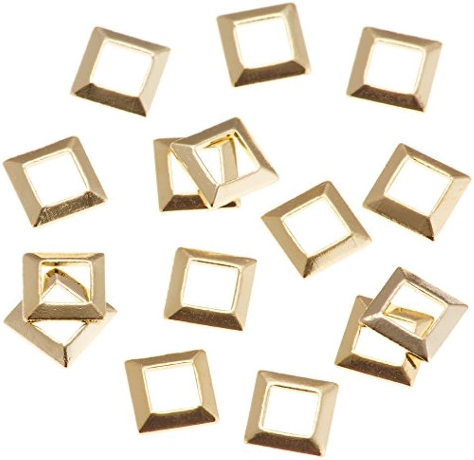 決済粘性のくまリトルプリティー ネイルアートパーツ スクエア スカシ ゴールド 50個