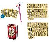 カードキャプターさくら 封印の杖&クロウカード、クロウカードコレクションセット ライト&ダーク、クロウカードブック 4点セット