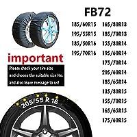 ATLI スノーソック オートソック 布製タイヤチェーン 布製タイヤすべり止めカバー 非金属 緊急用 収納袋付き(SC-FB72)