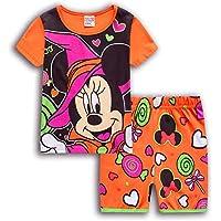 Starabu Kids Cotton Sleepwear Cotton Pajama Short Set Minnie Shirts for Gilrs