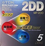 TDK ワープロ用 3.5型 2DD フロッピーディスク 5枚 アンフォーマット Super EB