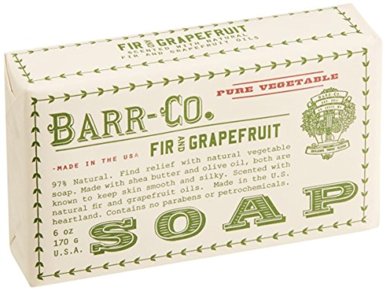 ノイズ勇敢な緊張するBARR-CO.(バーコー) バーソープ FIR&GRAPEFRUIT