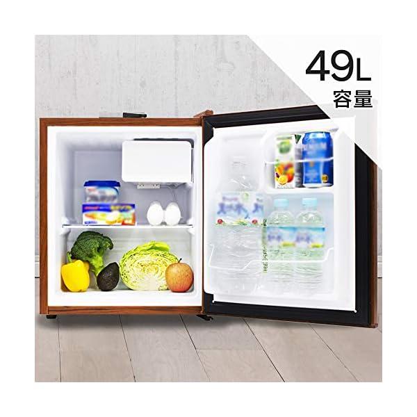 S-cubism 冷蔵庫 49L 1ドア 直令...の紹介画像2