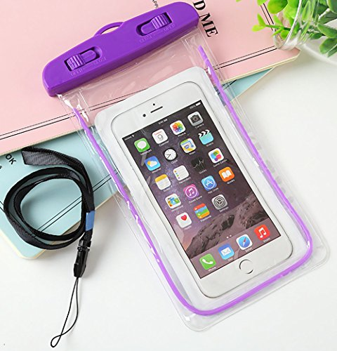 hortensia 防水ケース 紫 (パープル) 携帯ケース...