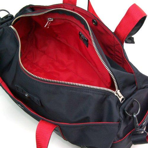 ポーターエルファイン(PORTER L-fine) PORTER×ILS共同企画 ロールボストンバッグ Roll Boston Bag ブラック(裏地:レッド) Black(Backing:Red)