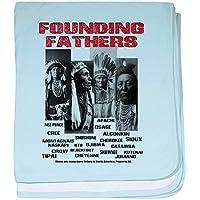 CafePress – Native American、最初Nations Founders Baby空白 – スーパーソフトベビー毛布、新生児おくるみ ブルー 073005959425CD2