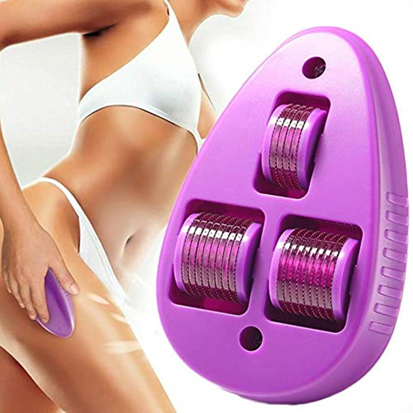 変動する渇き残る美容マウスMicroneedlingローラー電動マッサージャーダーママイクロニードル用ボディフェスケア痩身美の反老化セット,Purple,3.00MM
