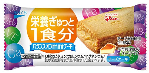 江崎グリコ バランスオンminiケーキ チーズケーキ 20個...