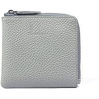 財布 レディースウォレットレザーショートミニウォレットコインケース レジャー財布 ( Color : Gray )