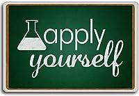 Apply Yourself - motivational inspirational quotes fridge magnet - 蜀キ阡オ蠎ォ逕ィ繝槭げ繝阪ャ繝