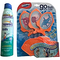 Swimways Go Fish Dive Game with Coppertoneキッズサンスクリーン50SPF