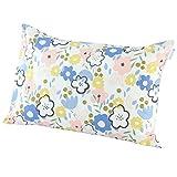 東京西川 枕カバー ホワイト 63X43cmのサイズの枕に対応 横幅フリー スカンジナビアンパターンコレクション ソンマルティーデル柄 PJ991806923