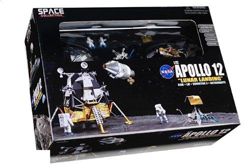 """1:72 ドラゴンモデルズ エアロスペース プログラム 50387 Grumman アポロ 月 Module ダイキャスト モデル NASA アポロ 12 """"Intrepid"""" 月 Landing N"""