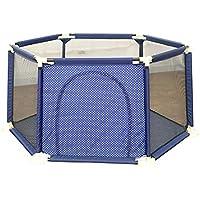 ベビーサークル 室内の赤ちゃんのプレイペンポータブルキッズのプレイヤープレイヤードホームの子供の安全フェンス通気メッシュ (サイズ さいず : 150x65.5cm)