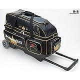 (ブランズウィック) ボウリング バッグ BC200 トリプルローラーバッグ ブラック・ゴールド 【ボウリング用品】