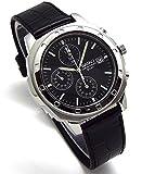 SEIKO クロノグラフ 腕時計 本革ベルトセット 国内セイコー正規流通品 ブラック SND191P1 [並行輸入品]