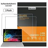 【2枚入り】Surface Book 2 液晶用保護フィルム [高透過率][スクラッチ防止][簡単取付] 強化ガラス保護フィルム Microsoft Surface Book(13.5 インチ対応)