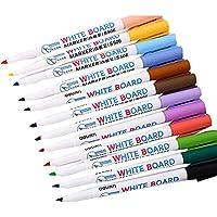 12 PCSホワイトボードペン、簡単に拭く