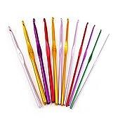 (AUTEK)12 サイズ アルミ編み針織りピン セット  編み棒 3.0-10.0 mm