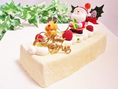 【糖質96%off☆送料無料】低糖質・糖質制限、半熟チーズのクリスマスケーキ。砂糖、小麦粉、人工甘味料不使用。