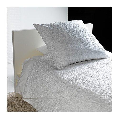 ALINA ベッドカバー&クッションカバー、ホワイト