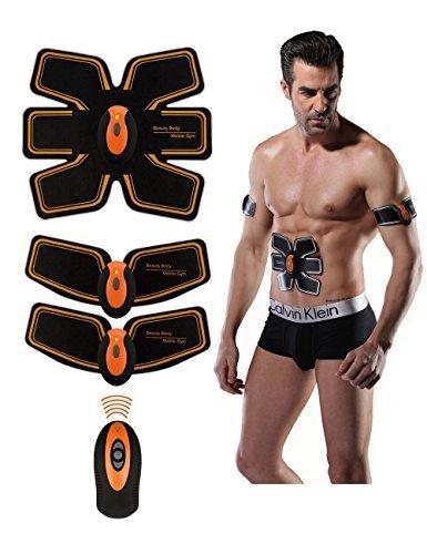 EMS腹筋ベルト EMS充電式 腹筋トレーニング、腕トレーニング、男女兼用、USBケーブル充電、ワン...