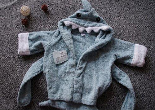 COM★MI-CHILD-RB-ブルー◆激カワ!!!癒される!!!可愛い子に可愛いバスローブ お子様にピッタリ 出産祝い 贈り物 にも
