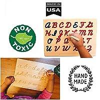 Cosmo-Crafts モンテッソーリ 筆記体 アルファベット トレースボード 木製ペン付き M LOWERCASE CURSIVE