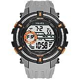 メンズデジタルウォッチ ミリタリーウォッチ 大きな文字盤と時計 カジュアルなLEDスポーツウォッチ 防水腕時計